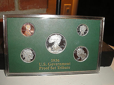 1936 Us Government Proof Set .999 Silver National Collectors Mint