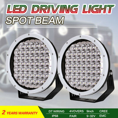 9inch 99999W CREE LED Driving Lights SPOT Round White Spotlights OffRoad 4x4 4WD