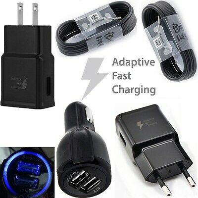 Black For Samsung Galaxy S8 S8 Plus Type-c Cable Fast Charging Car /Wall Charger