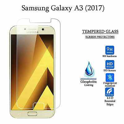 Premium HD Tempered Glass Screen Protector Guard for Samsung Galaxy A3 2017