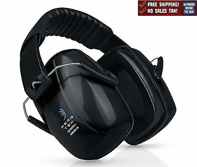 Safety Ear Muffs Noise Canceling Ear Hearing Protection Shooting Work Black New