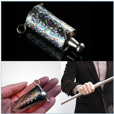 Appearing Cane Metal Magic Tricks Close Up Illusion Silk to Wand 3C