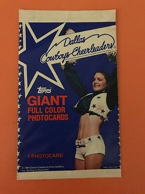1981 Topps, Dallas Cowboys Cheerleaders Photocards, Sealed Pack.