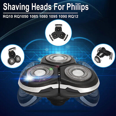 3D Shaver Heads Razor Blades Replacement For Philips RQ12 RQ1050 1085 1080 1095