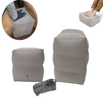 NEW Inflatable Travel Footrest Leg Rest Travel Pillow Kids' Bed to Lay Down DF