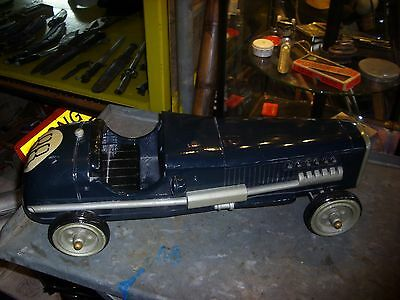 Large Vintage  Model Racing Car