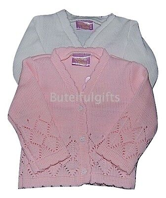 Girls Traditional V-Neck Lacey Cardigan 0-6 6-12 12-18 Month *1 Supplied*