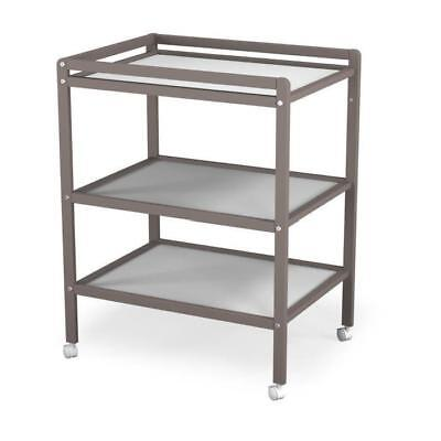 ATELIERS T4 Table a Langer Gris/Taupe 2 Etageres