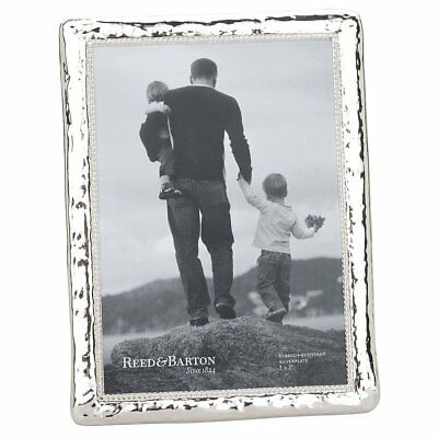 Reed Barton Picture Frame Bennett Style Hammered Look Silver Plate