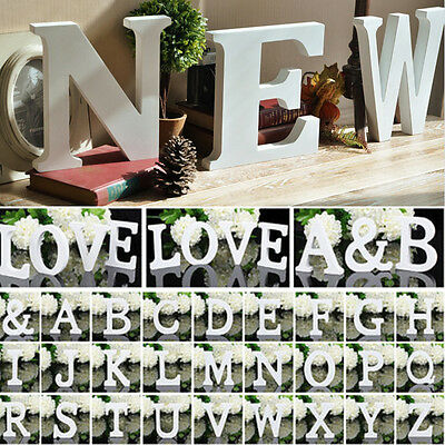 Wooden 26 Letters DIY Alphabet Freestanding Pure Wedding Party Home Sign Decor