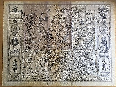 ANTIQUE MAP . THE KINGDOME OF SCOTLAND by JOHN SPEED  dated 1610