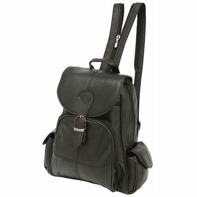 Embassy Solid Genuine Lambskin Leather Backpack