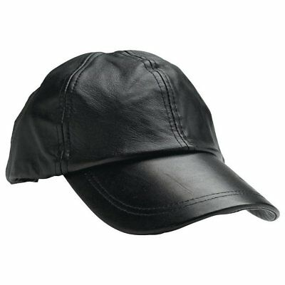 Giovanni Navarre Solid Genuine Leather Baseball Cap