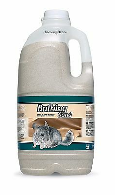 Bathing Sand 2L For Chinchillas Degus Hamster Gerbils & Mouse