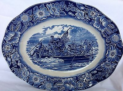liberty blue china large serving dish  14 Inch, 35/28 cm staffordshire ironstone
