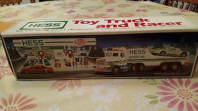 Hess Toy Truck with Racer 1991 Brand New in the Box.