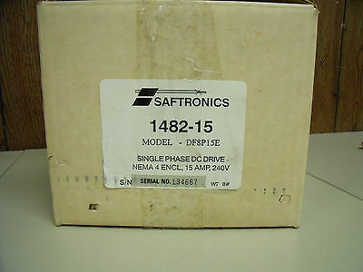 Saftronics Single Phase DC Drive Nema 4 Encl. Model # DF8P15E 15A 240V