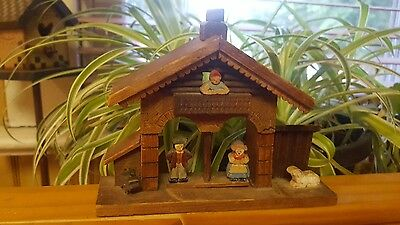 Antique?Germany? weather house/house  wooden handcrafted