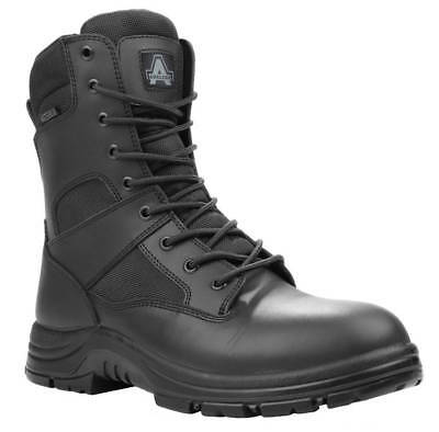 Amblers Safety Combat Mens Mens Occupational Footwear Size 13 Black Leather