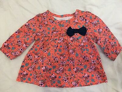 CARTER'S Baby Girls Floral Long Sleeve Top Shirt from Target. Cotton. 3M