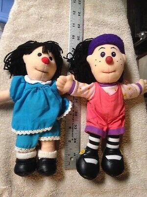 """THE BIG COMFY COUCH Loonette and Molly Plush Dolls 9"""" 10"""""""