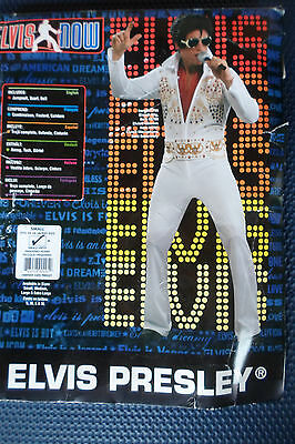 Elvis Presley Costume Jump Suit 889049 Small 34-36 Wig and Glasses Included