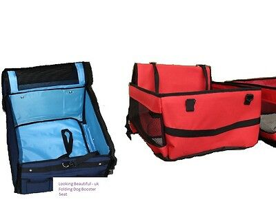 Pet Care Folding Dog Car/Travel Booster Seat Two Colours - Medium