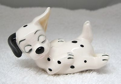 Walt Disney Productions Japan 101 Dalmations Puppy Sleeping on Back Pottery T50