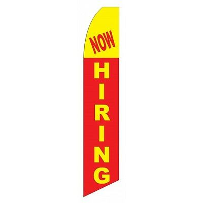 NOW HIRING Advertising Sign Swooper Feather Flutter Blade Banner Flag Only Bow