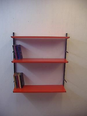 TOMADO wallshelving with 3 shelves Seventies and bookends Industrial Era