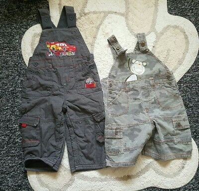 2 x baby dungarees 12-18