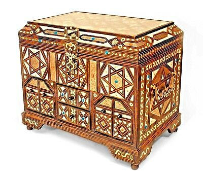 """Middle Eastern Moroccan (20th Cent.) """"Torah Chest"""" Floor Trunk"""