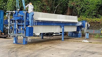 230 Cuft Jwi Filter Press 1500Mm Plates Non Gasketed Low  Pressure 2006,