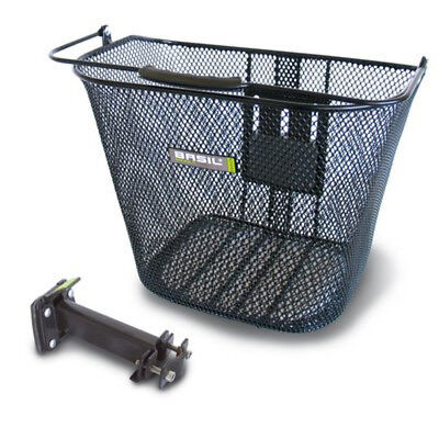 Basil Steel Mesh Removable Bicycle Front Basket BaSimply Black
