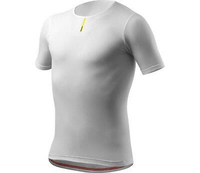 Mavic Hot Ride Short Sleeve Bike Base Layer Tee White