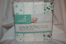 * Brand New 4 Aden + Anais Muslin Swaddle Plus - Green and White *