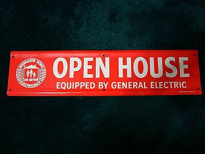 Vintage 1960s General Electric Open House Advertising Sign