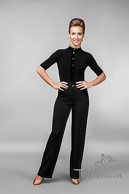 Women's Latin Ballroom Modern Dance Pants Dancing Competition Size S-M