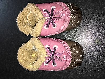 Timberland cribs/pram shoes 1.5UK little girl purple❤