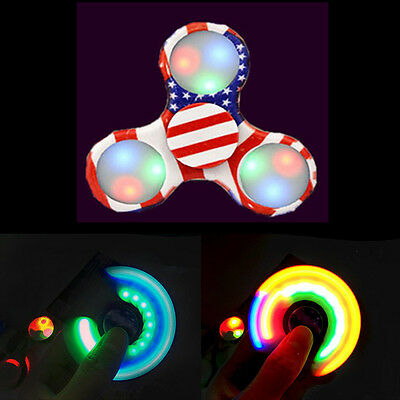 Hand Finger Fidget Spinner LED Pocket Konzentration ADHS EDC Anti Stress Licht