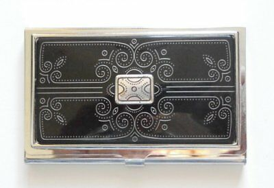 Brighton Business / Credit Card Holder ~ Black and Silver