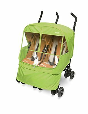 Manito Elegance Alpha Twin Stroller Weather Shield Rain Cover Green, New