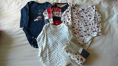 6-9 month girl vest bundle x6 long sleeved. Excellent condition, 2 in packaging