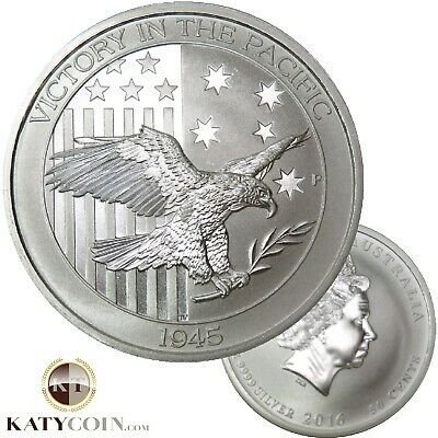 2016 1/2 Ounce Half Oz Silver WW2 Victory Eagle 1945 Australia 50 Cents #13644