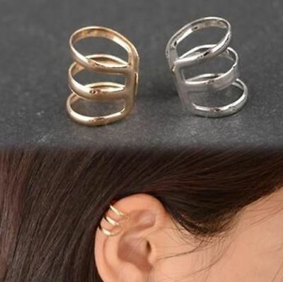 Retro style hollow Ear Cuff Clip Cartilage clip-on earring upper helix clip UK