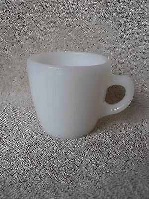 Vintage Rare HTF White Fire King C Handle Heavy Restaurant Ware Coffee Cup
