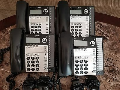 Lot of 4- AT&T 1040 4-line Small Business Phones.