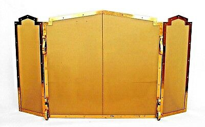 American Mission Style (2nd ½, 20th Cent.) Brass Fire Screen