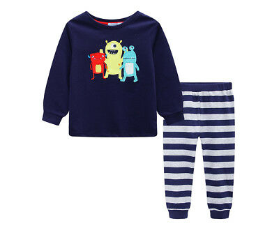 Undercover Crew Baby/Toddler Monster 2-Piece PJ Set - Navy