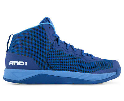 AND1 Men's Fantom Basketball Shoe - Royal/Marina/White